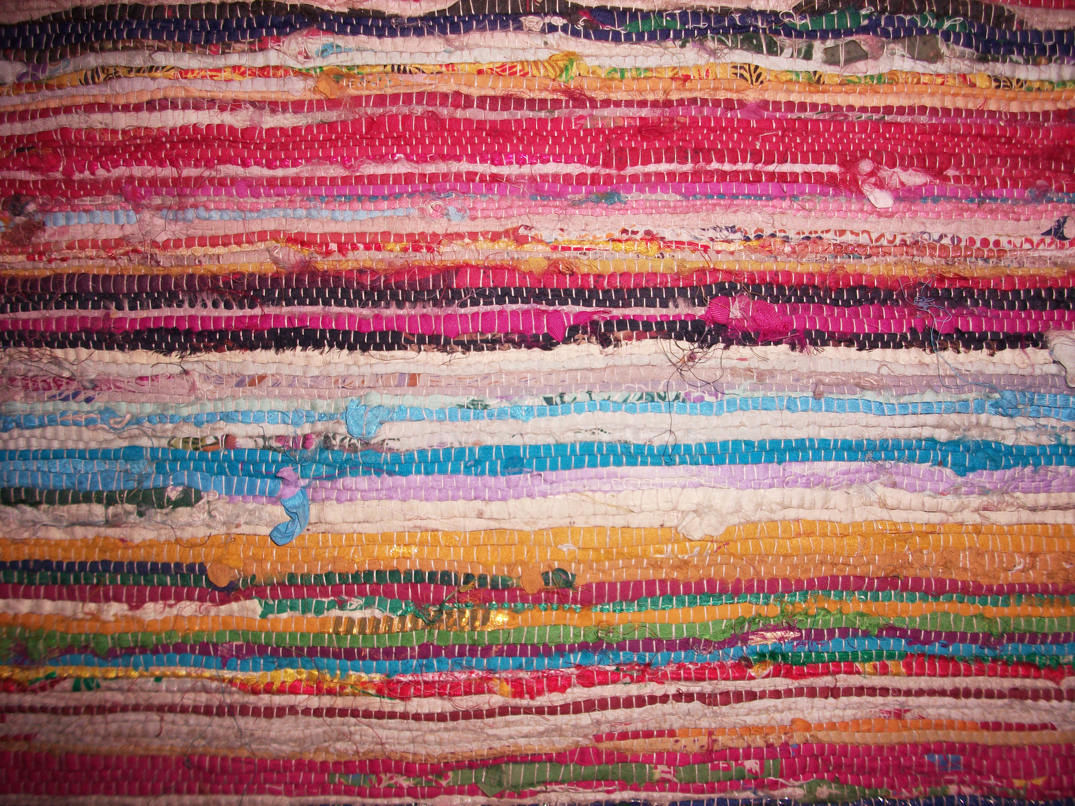 """Multicolored Recycled Cloth Rug"""