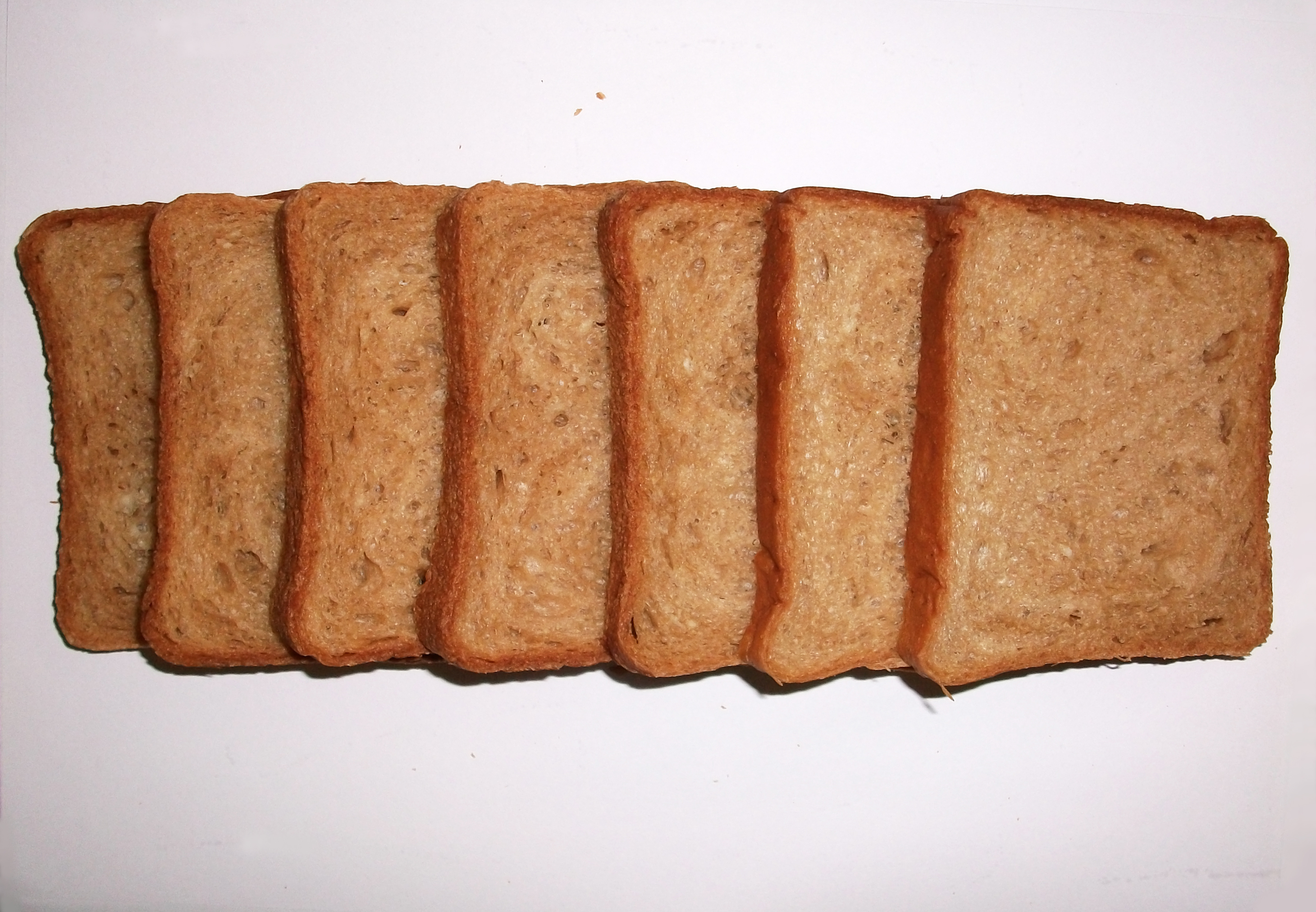 """Brown Bread Slices In A Row"""