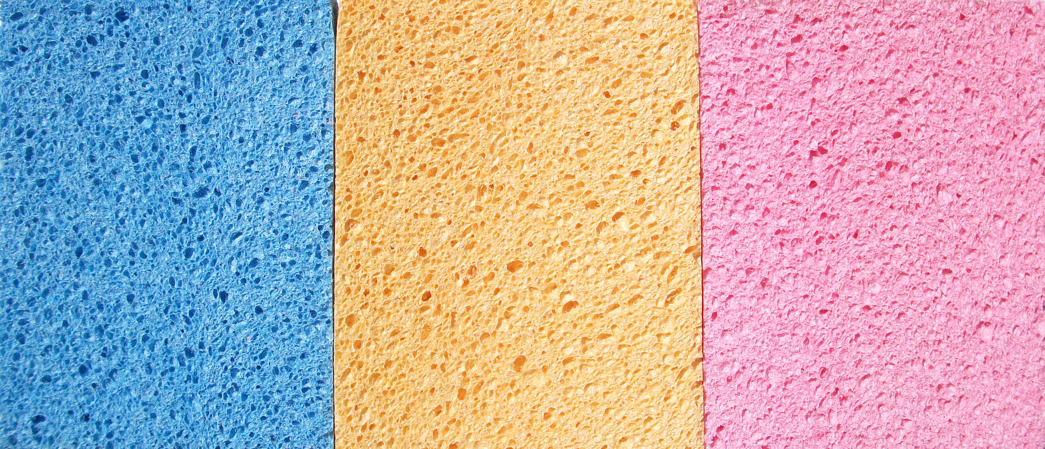 """Blue Yellow Pink Sponge Photoshop Background"""