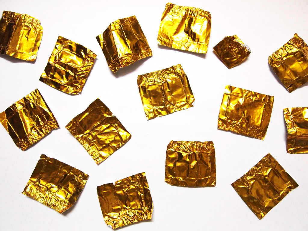 """Golden Chocolate Candy Wrapper Texture 10"""