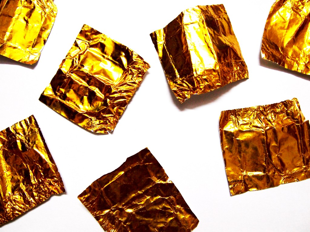 """Golden Chocolate Candy Wrapper Texture 11"""