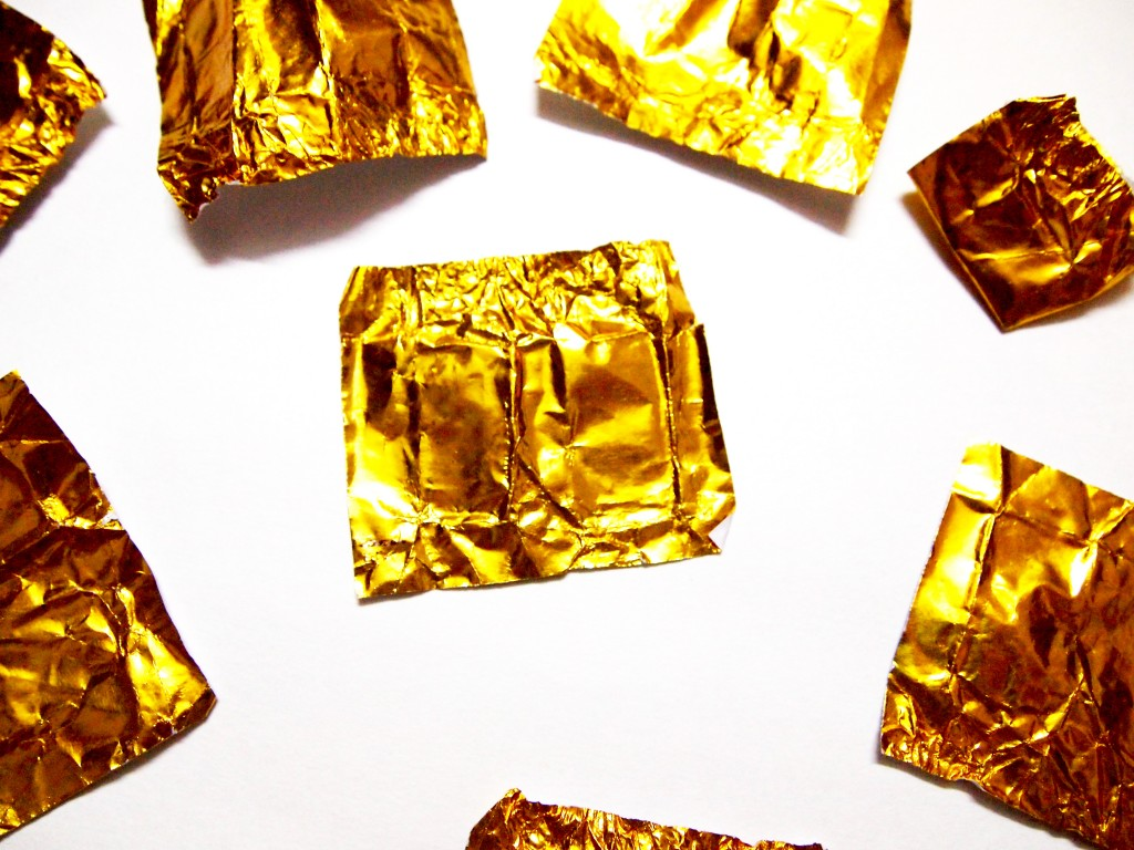 """Golden Chocolate Candy Wrapper Texture 4"""