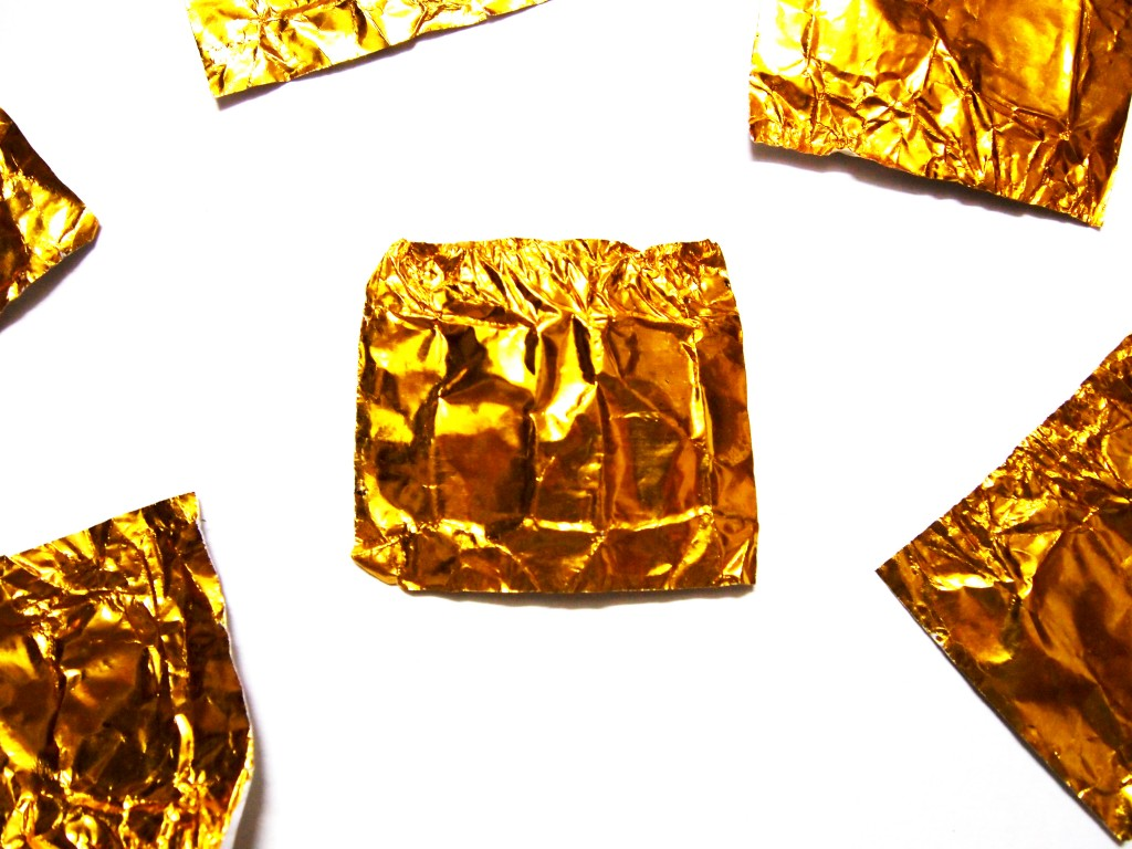 """Golden Chocolate Candy Wrapper Texture 5"""