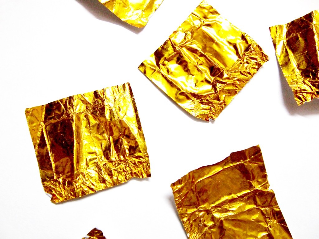 """Golden Chocolate Candy Wrapper Texture 6"""
