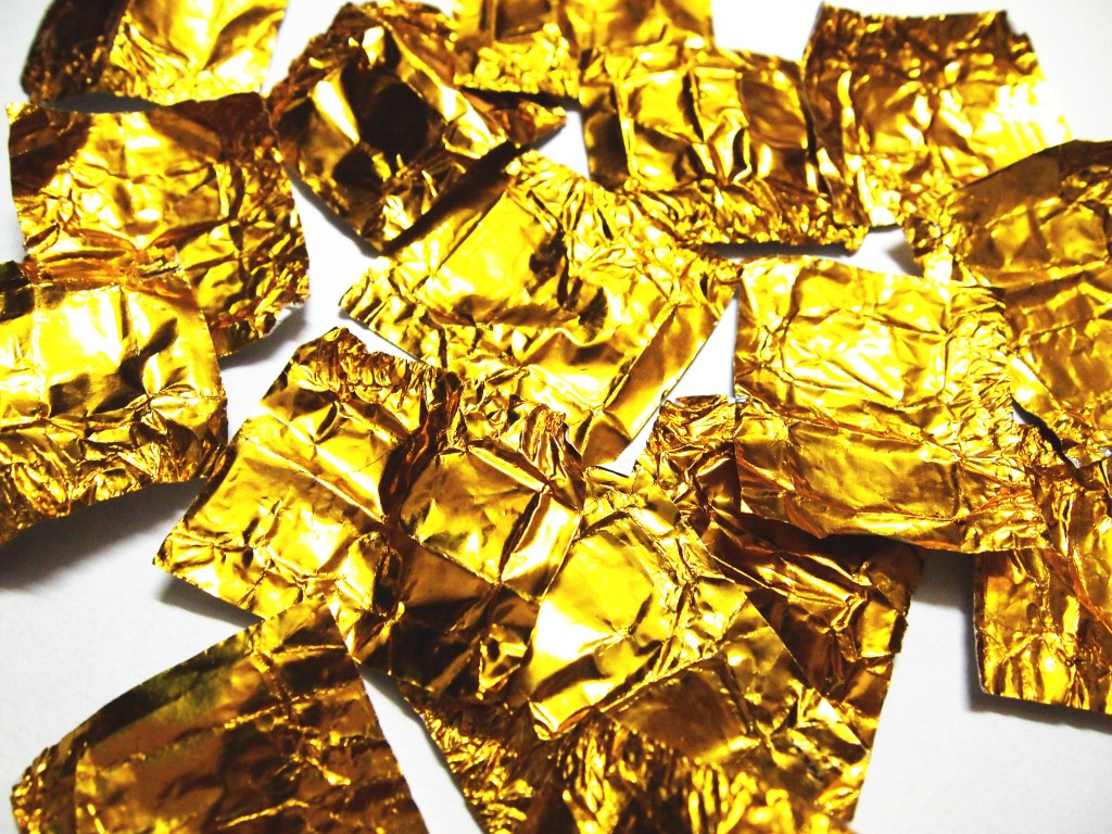 """Golden Chocolate Candy Wrapper Texture 7"""