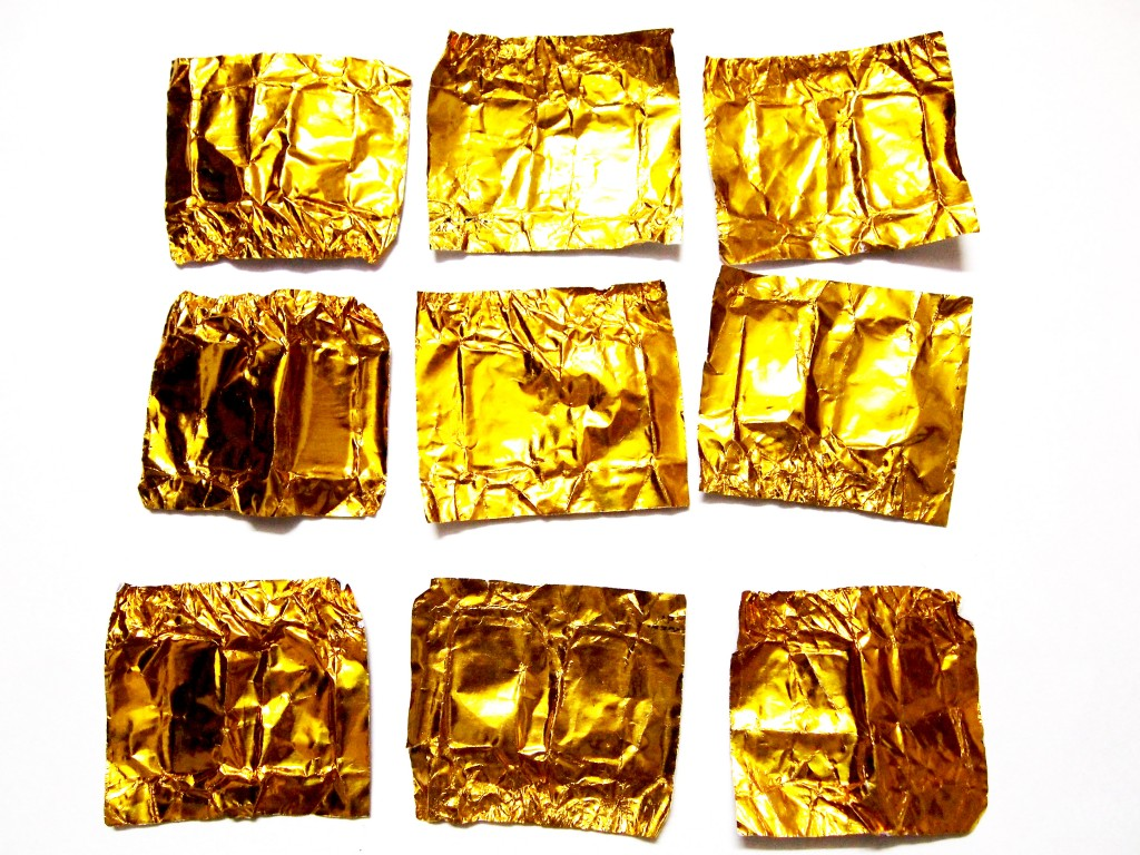 """Golden Chocolate Candy Wrapper Texture 8"""