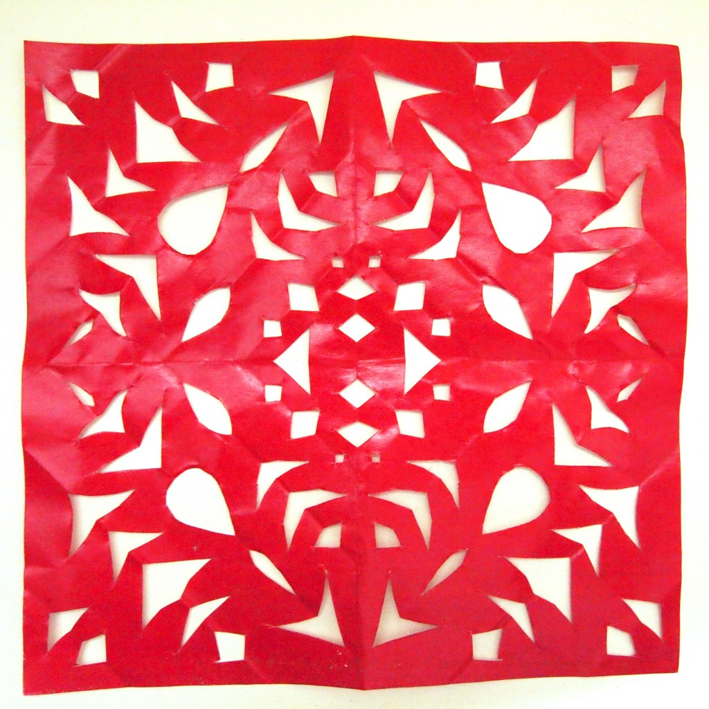 """Paper Cutout Cutwork Texture Red 6"""