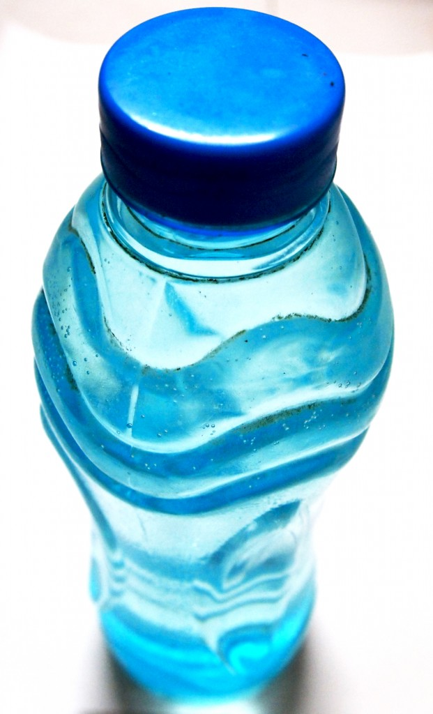 """Blue Plastic Water Bottle 1"""