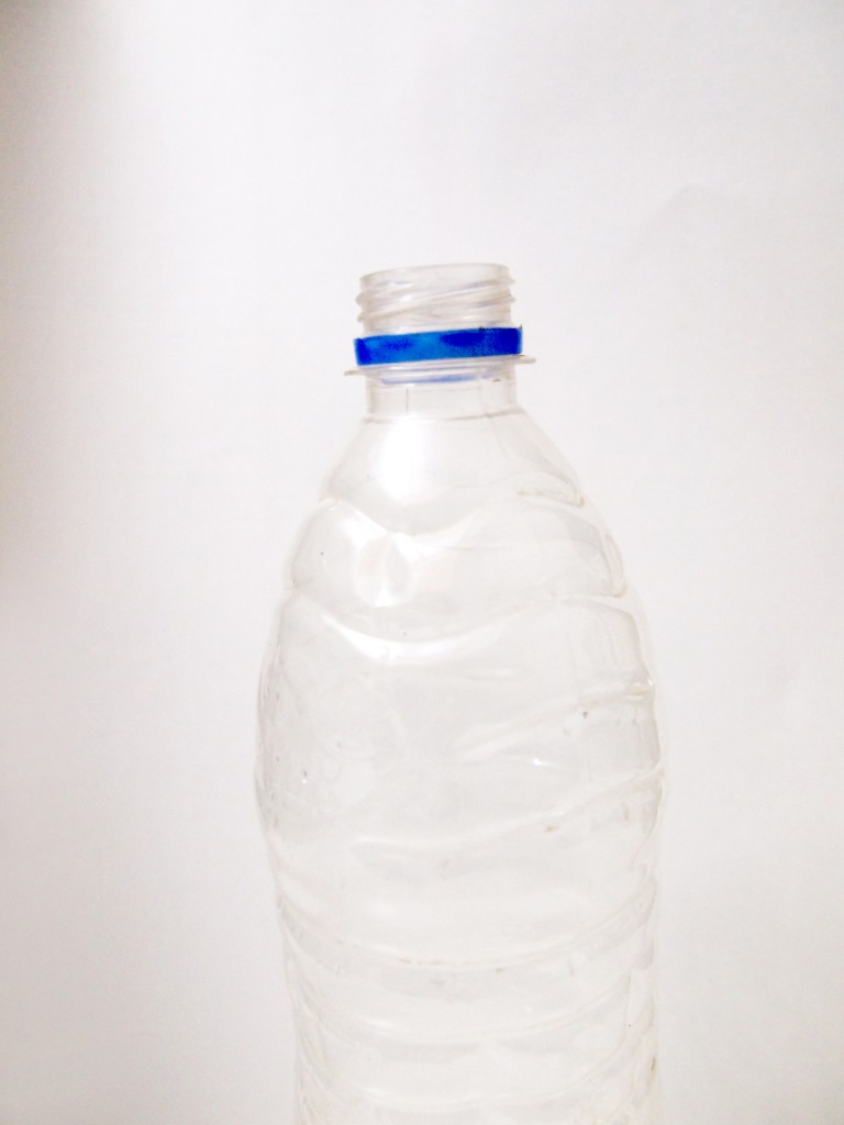"""Transparent Plastic Water Bottle 10"""