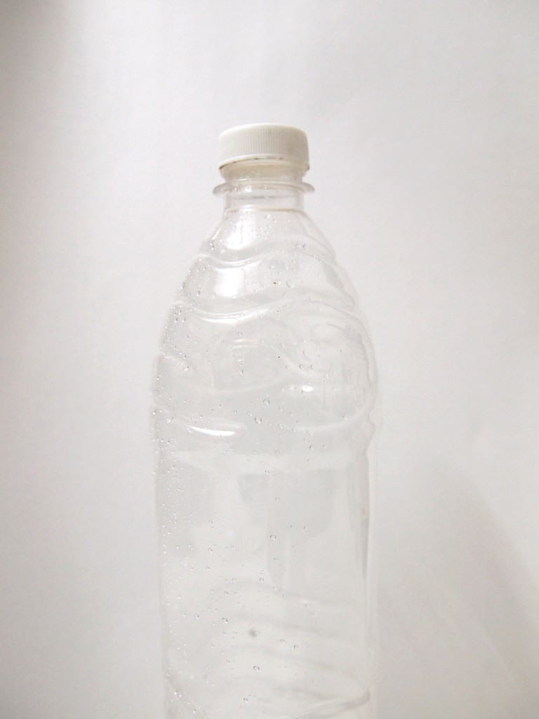 """Transparent Plastic Water Bottle 8"""