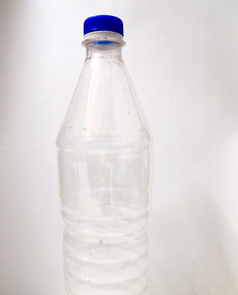 """Transparent Plastic Water Bottle 9"""