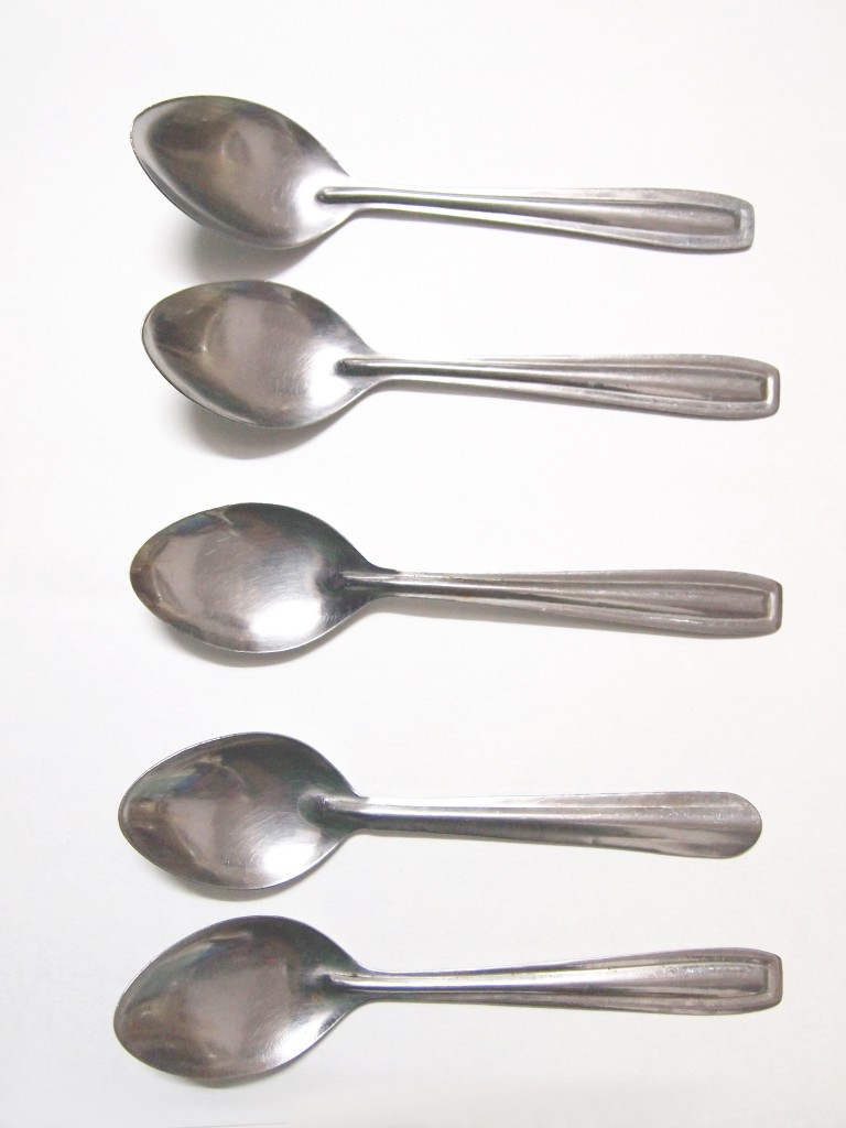 """Stainless Steel Spoon Texture 8"""