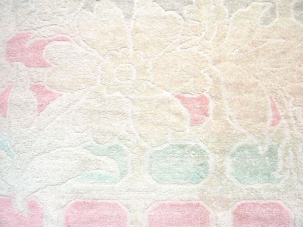"""Soft Towel Fabric Texture White Flowers 3"""