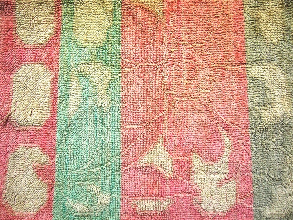 """Soft Towel Fabric Texture Crimson and Greenish 4"""