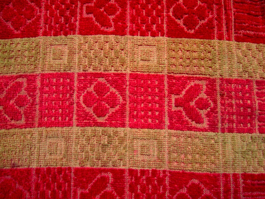 """Soft Towel Fabric Texture Red and Yellow 5"""